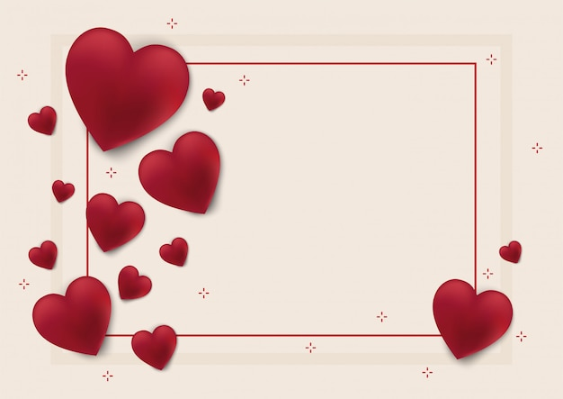 Valentines day background and love heart Premium Vector