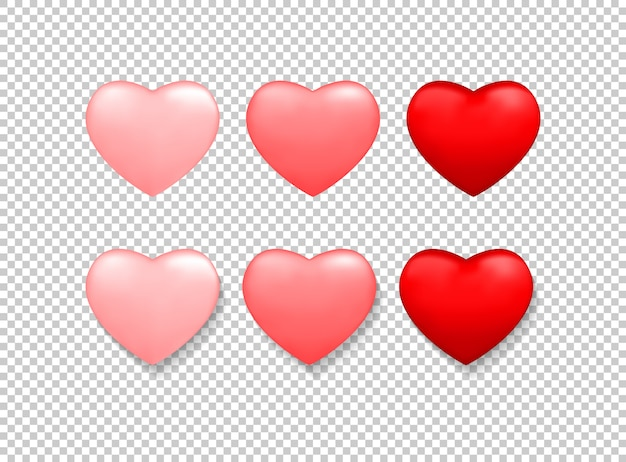 Valentines day background with red heart Premium Vector