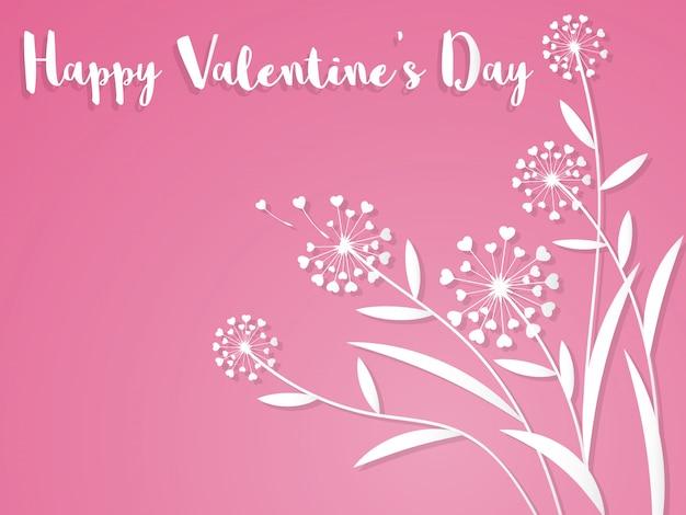 Valentines day background. Premium Vector