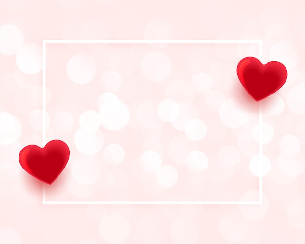 Valentines day beautiful frame with text space Free Vector