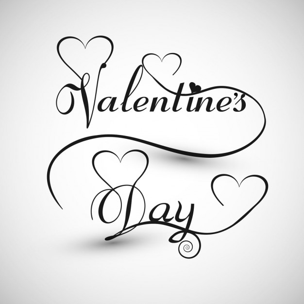 Valentines day card in monochromatic style Vector – Black and White Valentines Day Cards