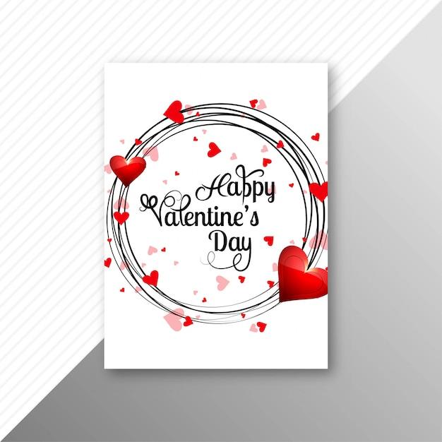 Valentines day colorful hearts card creative template design Premium Vector