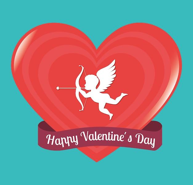 Valentines day design, vector illustration. Premium Vector