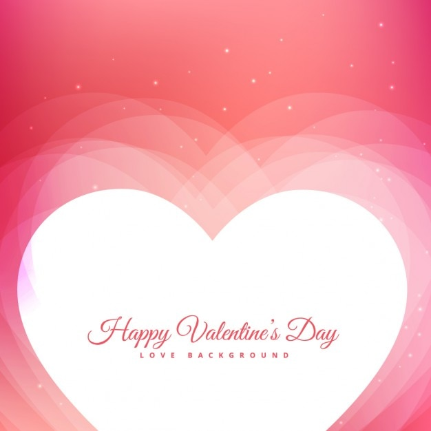 Valentines day design with pink background and hearts Free Vector