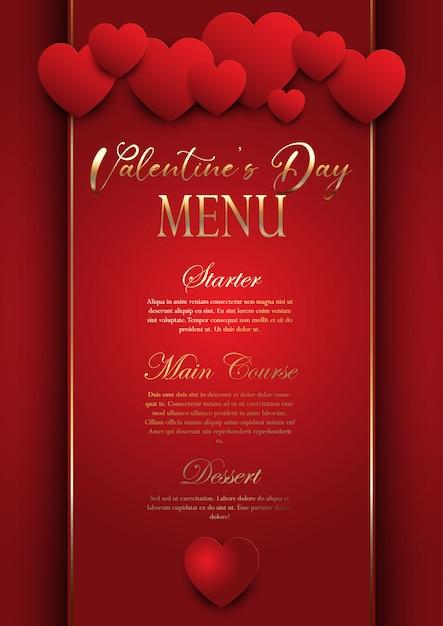 free vector  valentines day elegant menu design