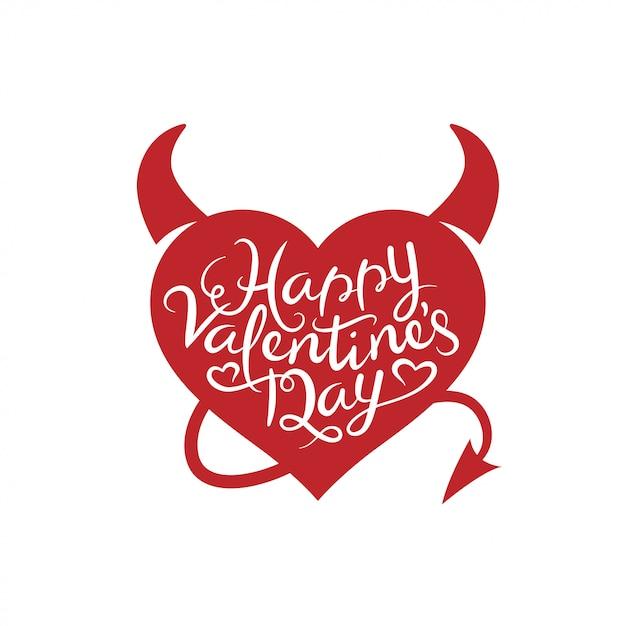 Valentines day lettering background. Premium Vector