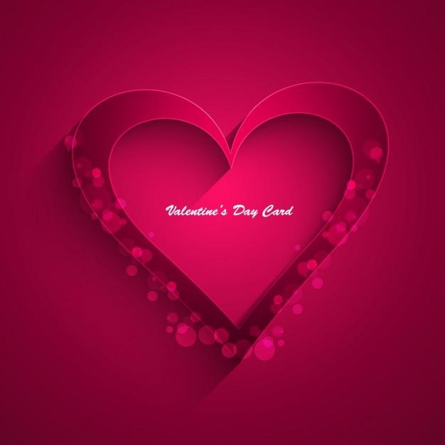 Valentines day magenta card Vector – Download Valentine Day Card