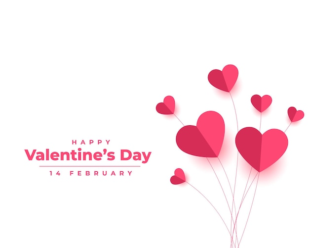 Valentines day in paper style Free Vector