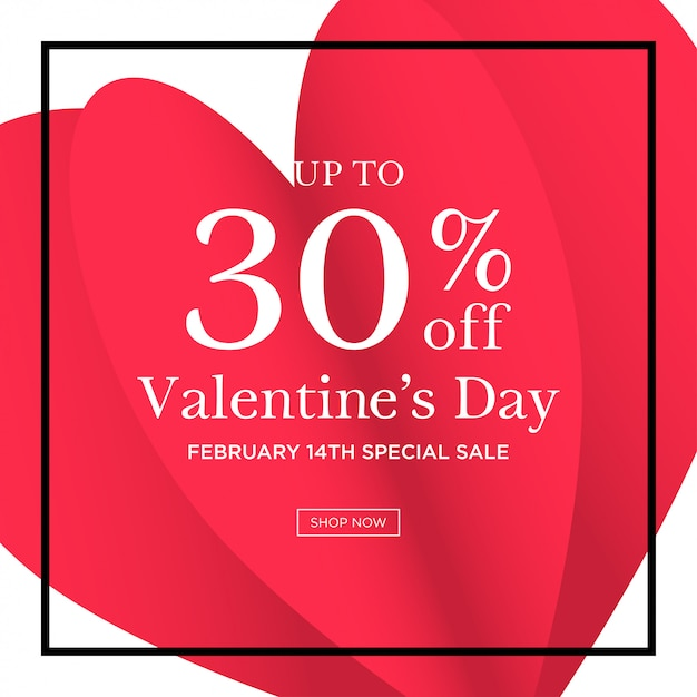 Valentines day sale background Premium Vector