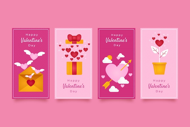 Valentines day super sale story Free Vector