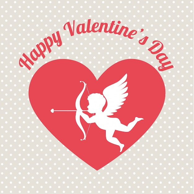 Valentines day, vector illustration. Premium Vector