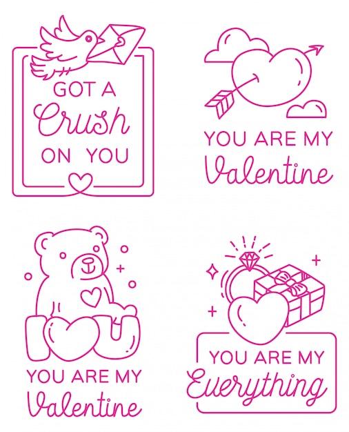 Valentines greeting badge Premium Vector