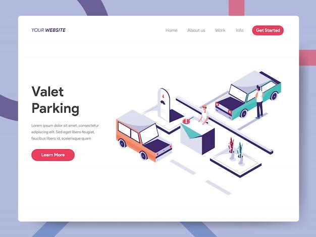 Valet parking landing page Premium Vector