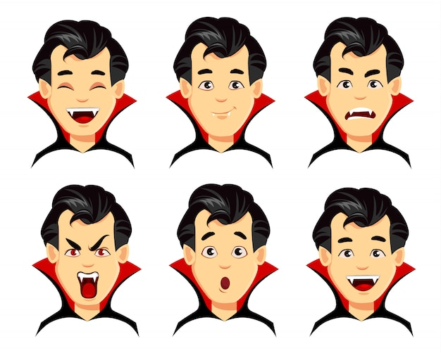 Vampire cartoon character Premium Vector