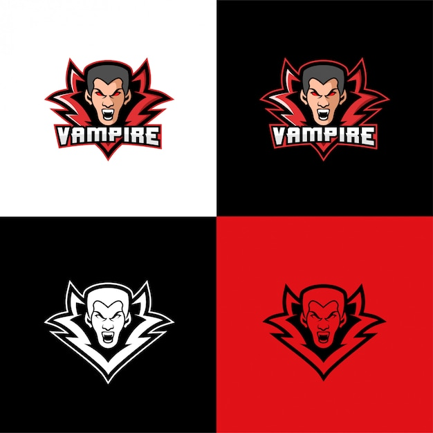 Vampire head logo sport template Premium Vector