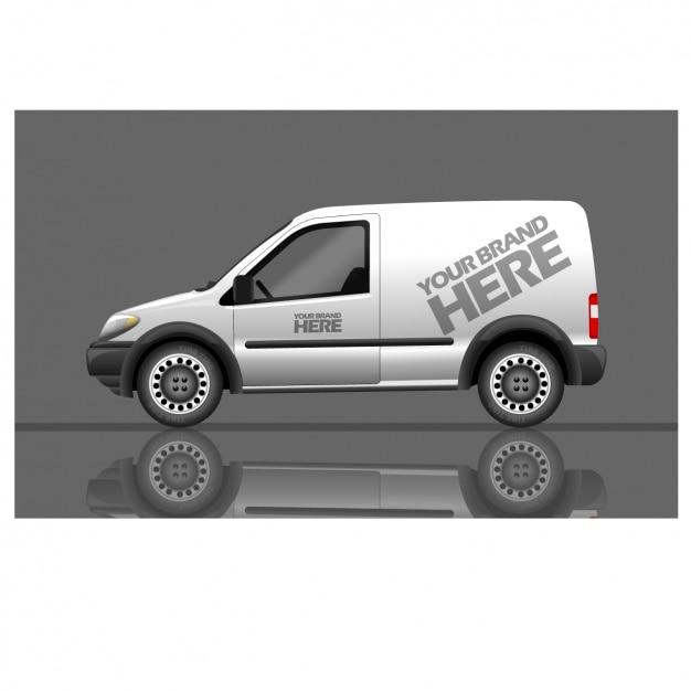 Van for brand Free Vector