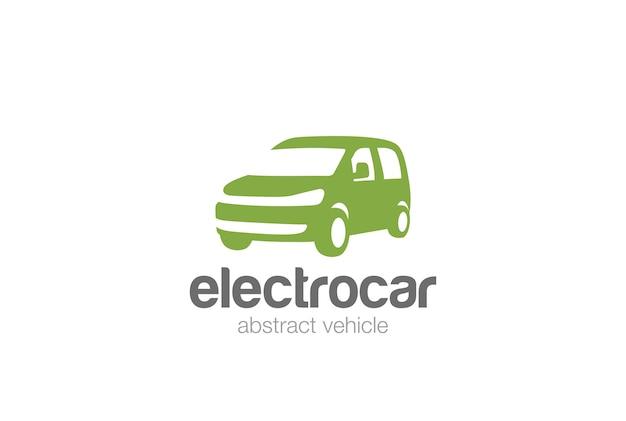 Van car delivery logo icon. negative space style. Free Vector