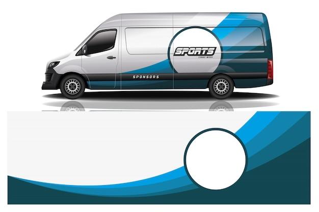Van car wrap design for company Premium Vector