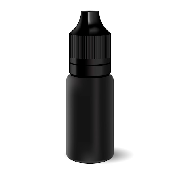 Vape liquid dropper bottle Premium Vector