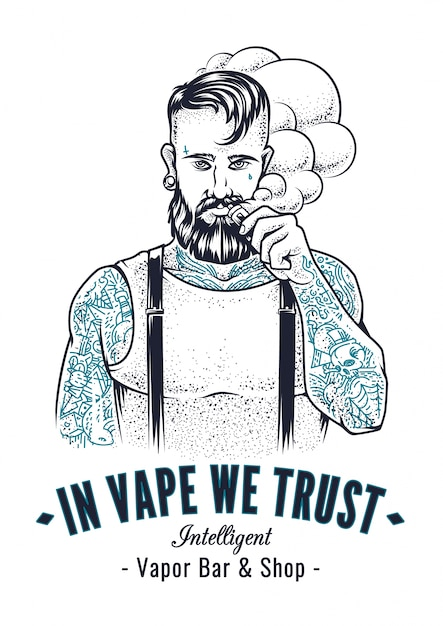 Vaper Hipster Art Free Vector