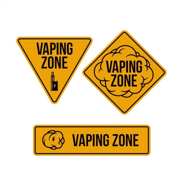 Набор знаков vaping зоны Premium векторы