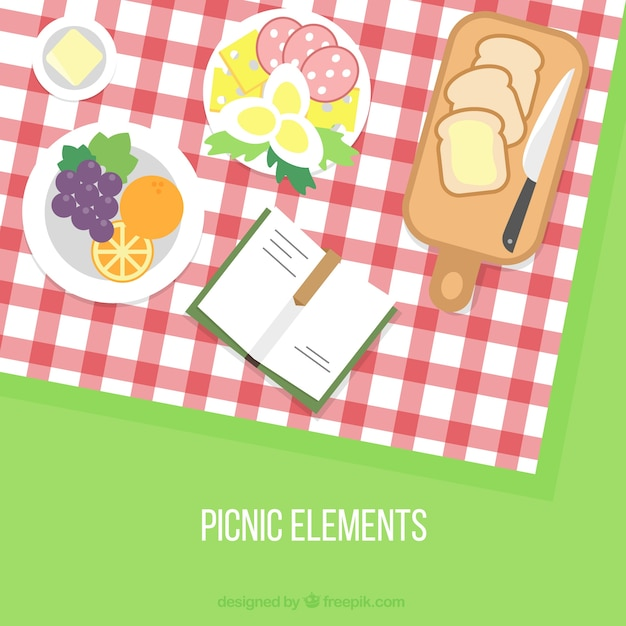 Varied picnic background