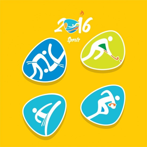 Freepik Variety Of Abstract Olympic Sports Icons Vector For Free