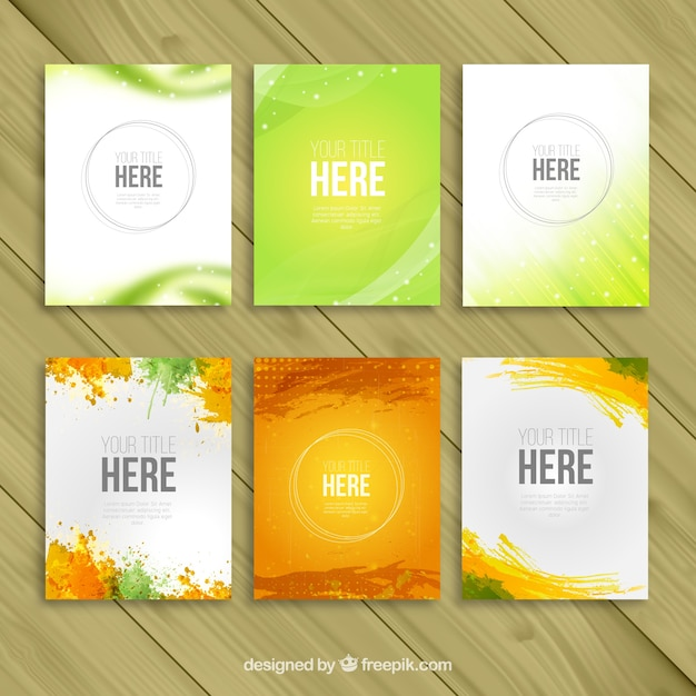 Variety of brochure templates Free Vector