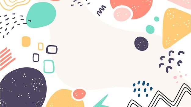 Variety of cute shapes abstract background Free Vector