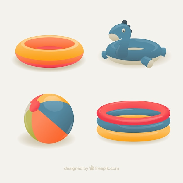 Variety of floats Free Vector