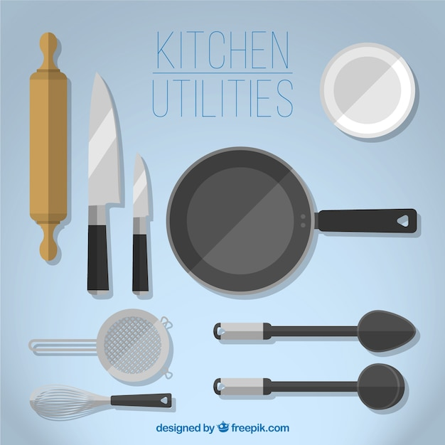 Genial Variety Of Kitchen Utilities Free Vector