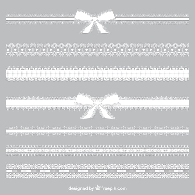 Variety of lacy borders Premium Vector