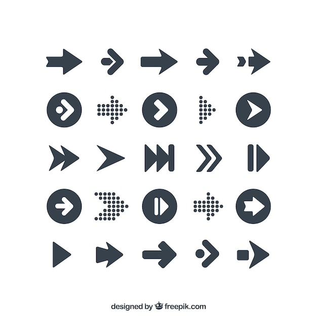 Variety of arrows icons Premium Vector