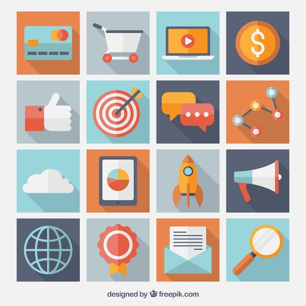 Variety of business icons Vector | Free Download