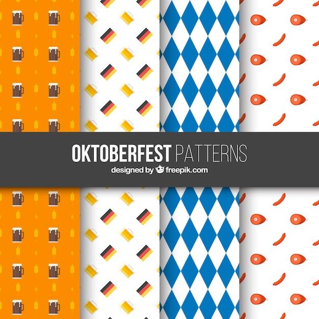 Variety of cool oktoberfest patterns