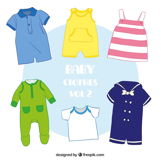 Variety of cute baby clothes