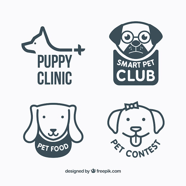 Variety Of Dog Logos Vector Free Download