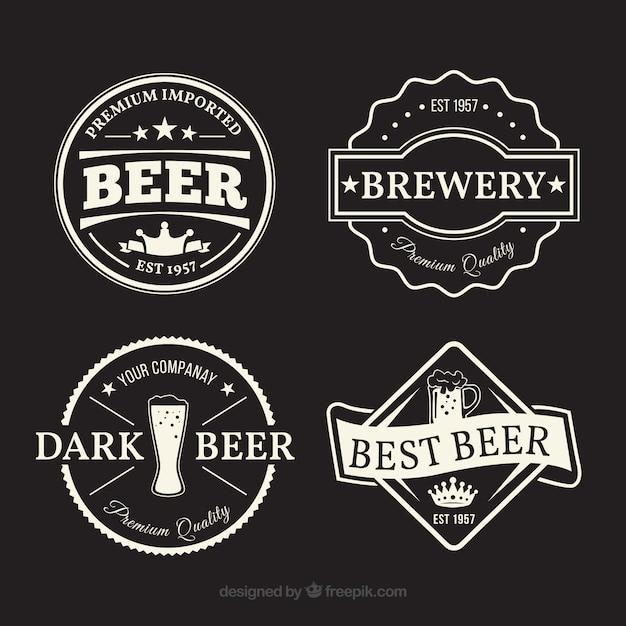 Variety of fantastic beer labels Free Vector