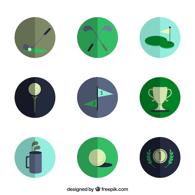 Variety of golf icons