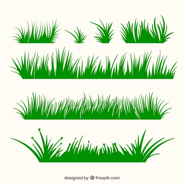variety of green grass borders in flat design vector free download rh freepik com free vector glasses free vector grass silhouette