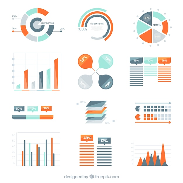 Variety Of Infographic Diagrams Vector Free Download