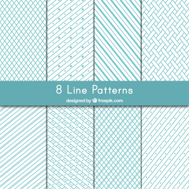 Variety Of Lines Patterns Vector Free Download Fascinating Line Pattern Vector
