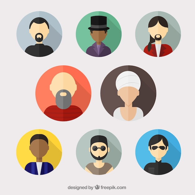 Variety of man avatars