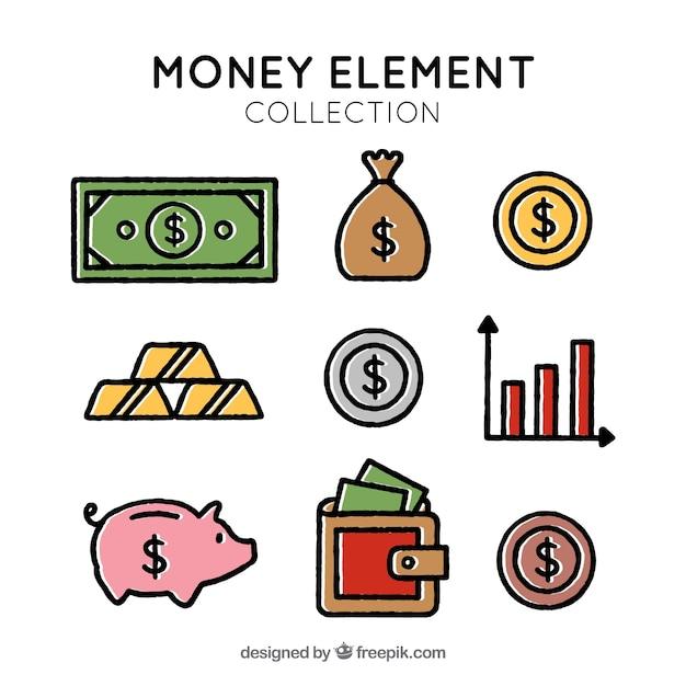 Variety of money items
