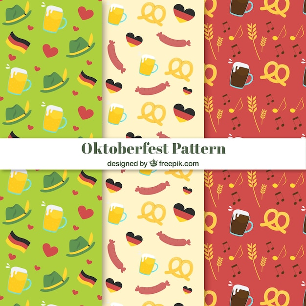 Variety of oktoberfest patterns