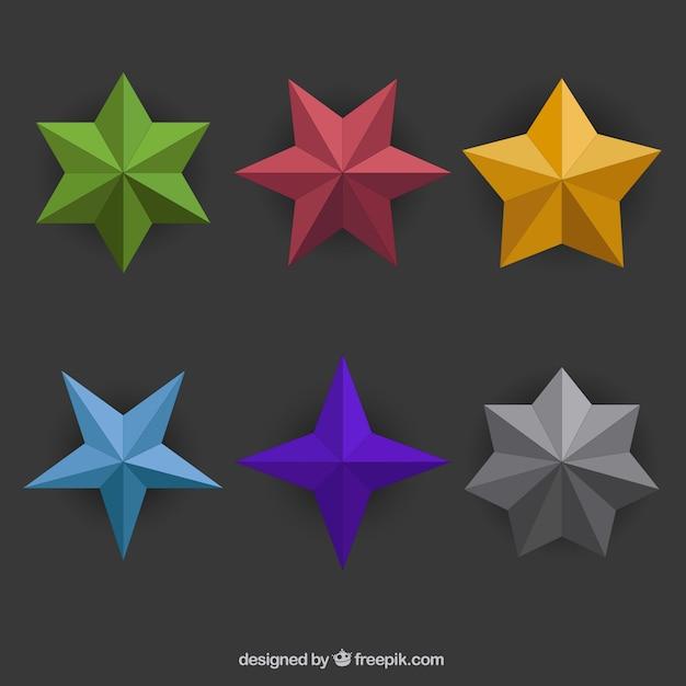 多角形の星のさまざまな 無料ベクター