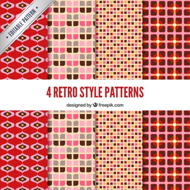 Variety of retro patterns