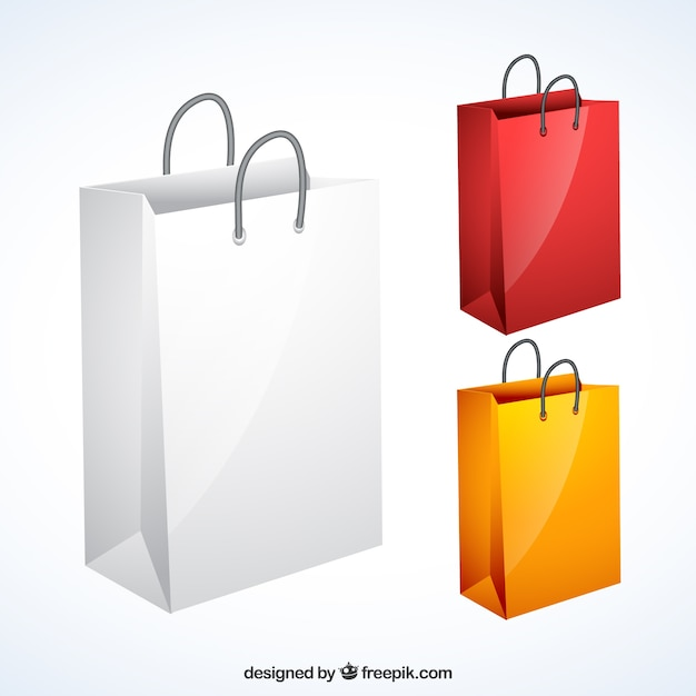 Variety of shopping bags Vector | Free Download