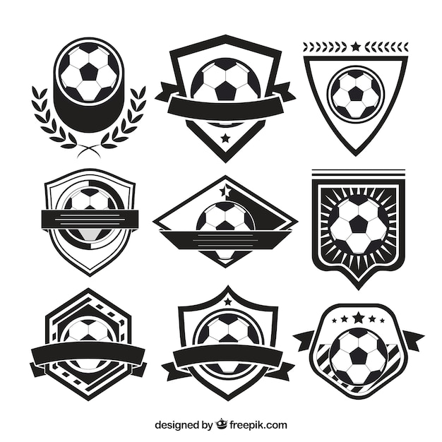 Variety of soccer badges