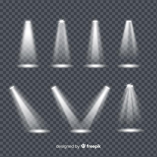 Разнообразие прожекторов для театра Бесплатные векторы